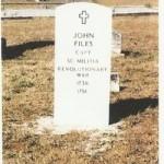 Gravesite of Captain John Adam Files