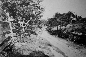 Roulette Lane, leading to the Sunken Road, which was defended by the 14th CV.