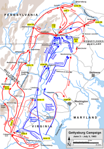 The Gettysburg Campaign, and the pursuit of Lee into Pennsylvania.