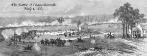 Panorama of the first day's fight.