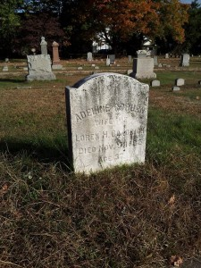 Adeline Goodrich's marker in East Hartford.