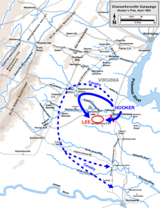 Hooker's plan of battle for the Chancellorsville campaign.