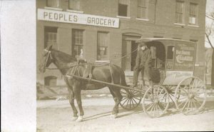 Only known image of the People's Grocery, circa 1892.