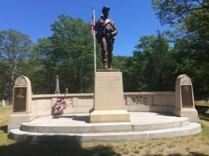 Sharon's Civil War Monument, in Rock Ridge Cemetery as captured by Patrick Browne.